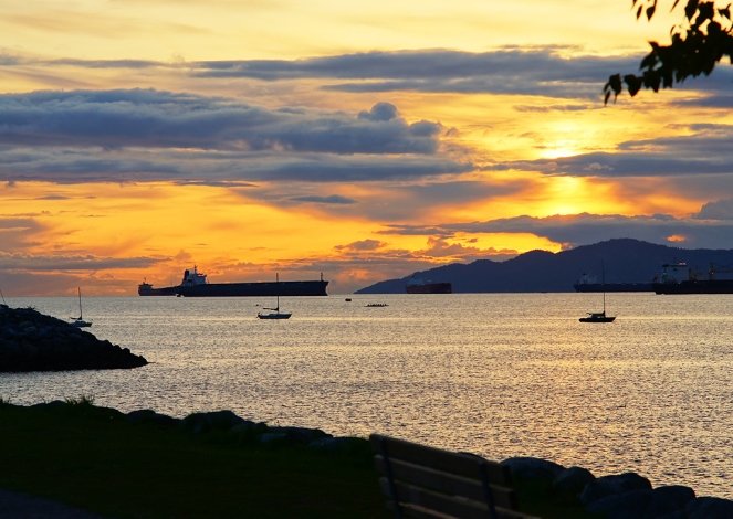 borrowed image Vancouver Bay at Sunset